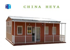 China Long Service Life Pre Built Metal Homes , Steel Frame Small House Sandwich Panel Roof on sale