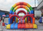Commercial Grade Rainbow Kids Inflatable Obstacle Course Form Sino Inflatables