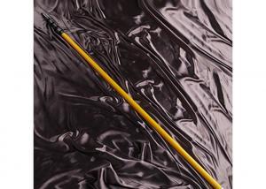 China Yellow Carbon Fiber Telescopic Fishing Rod / Rigid Carbon Fibre Extendable Pole on sale