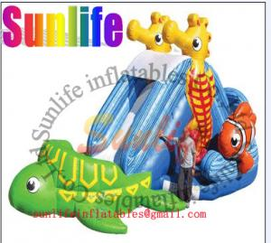 China EN14960 Commercial Outdoor Inflatable Water Slide For Playground on sale