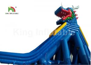 China Dragon Stype Blue Large Inflatable Water Slide For Adults In Aquatic Park on sale