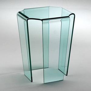 China China best quality 4mm 5mm 6mm 8mm hot bent glass console table factory on sale