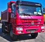 HOWO Utility Dump Truck 10 Wheels 6x4 Driving Type Square Shape / U Shape Body