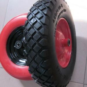China Lauching Trolley Wheel Flat Free PU Foam Wheel 16 (400-8) TYRE TIRE TUBE on sale