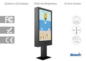 China Excellent Visual Quality Digital Drive Thru Menu Board Dust And Wind Resistant on sale