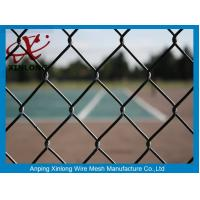 China Beautiful Black Chain Link Fencing , Fence Chain Link For Basket Playground on sale
