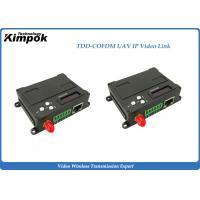 RJ45 Wireless UAV Video Link 10km LOS Wireless Ethernet Transceiver 1W COFDM Transmitter with Data Radio