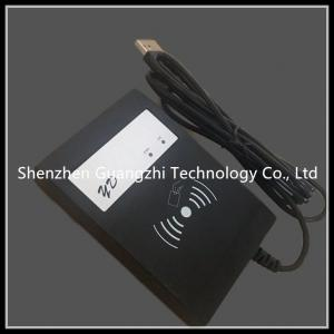 China Black Rfid Card Reader 13.56mhz Long Range , Contactless Card Reader With Buzzer on sale
