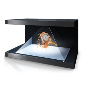China Inverted Triangle Pyramid 3D Holographic Display Android 270 Degree Long Lifetime on sale