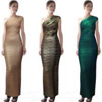 High Quality New Fashion Popular Celebrity Wholesale One Shoulder Floor Length Bandage Dress Party Dress