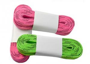 China Green Pink Red Ice Hockey Skate Laces Waterproof High Tensile Strength on sale