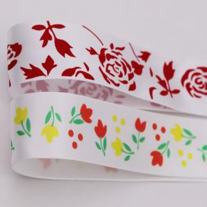 China Silk Screen Printed Satin Ribbon Customized Size Double Sided Style wholesale