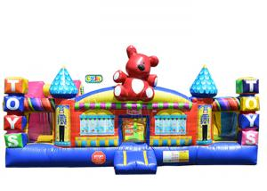 China Safe Durable Lead Free Inflatable Kids Playground / Bounce House Playground on sale
