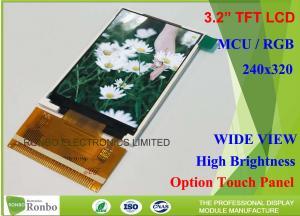China 46 Pin 3.2 Tft Lcd Display Module High Brightness 240 * 320 Resolution supplier