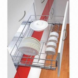 Kitchen Cabinet Organizer Pull Out Storage Wire Basket With Soft