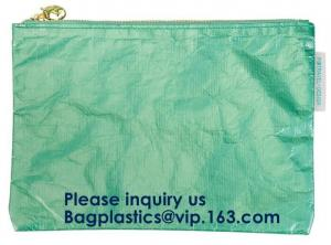 China Fashion Waterproof Wear Resistant Eco Friendly Breathable Reusable Tyvek Zipper Cosmetic Bag For Women, Bagease, Bagplas on sale