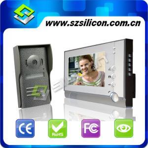 China Home Intercom System,Video doorphone intercom,7 inch TFT LCD Monitor Video Door Phone Doorbell, Fashion alloy panels on sale