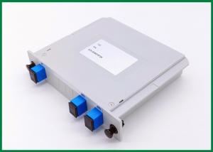 China 1x2 Optical Fibre Splitter , Plc Splitter Module With SC UPC Connectors / Adapters on sale