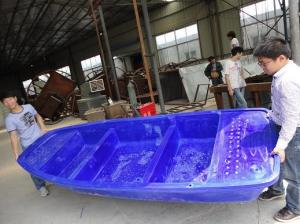 China flat bottom plastic fishing boats for sale on sale