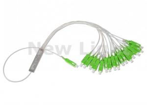 China 1*16 ABS Black Box Optical PLC Splitter / Fiber Optic Coupler With 3.0mm Input Cable on sale