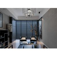 China Removable Vinyl Contemporary Wall Coverings with Grey Leaf Pattern For Study Room on sale