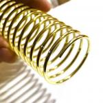 ID 19mm Gold Plated Binding Wire Coil For Notebook