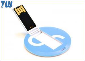 China Mini Round Card Plastic Usb Flash Drive 8GB 16GB Data Storage on sale