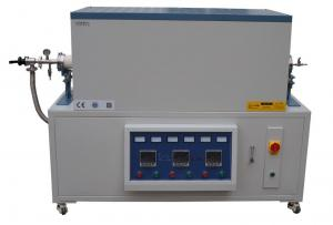 China 1700°C  Horizontal  3 zones Split Tube Furnace for lab using on sale