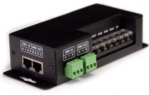 China Black 4 Channel LED DMX Decoder DMX512 LED Remote Controller 24 volt on sale
