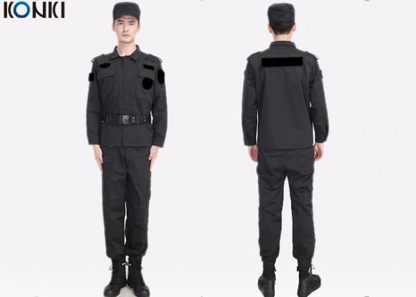 868025b9 Black Private Security Uniforms , Long Sleeve Jacket Shirt And Pant Images