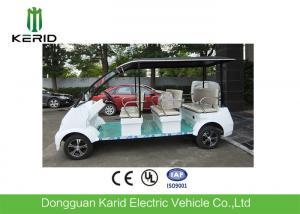China Fashion Style White DC Motor 4kW Electric Shuttle Bus Max Loading 8 Passengers on sale