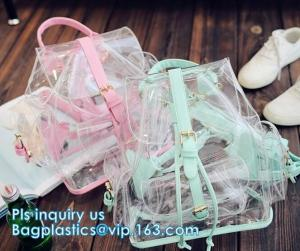 China backpack wholesale with padded straps, Promotional Transparent PVC School Backpack with Customized Logo Clear Children B on sale
