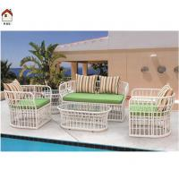 white rattan sofa set with coffee table vintage rattan furniture RMS-0097