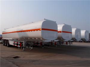 China TITAN VEHICLE 50000 liters carbon steel oil tanker trailer with tri-axle for sale on sale