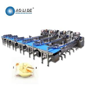 China Snack Food Feeding Cookie Packaging Machine For Postry Cookies Swiss roll on sale