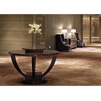 Contemporary Modern Lobby Furniture , Dark Round End Tables 150 cm