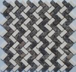 Mosaico del mármol de Brown, Herribone Mosaice, mosaico del hexágono, mosaico del diseño de la onda de la cesta