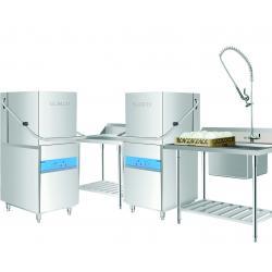 China Restaurant Grade Dishwasher1400H 650W 800D 107KG , Commercial Dishwashing Machine for sale
