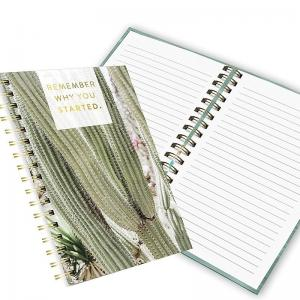 China Fashion OEM double spiral notebook 100 sheets with yellow paper on sale