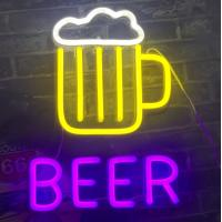 China Personalised BEER Outdoor Neon Open Sign Silicone Acrylic Material 12V DC on sale