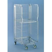 3 sided Multifunctional Security Roll Cage, Removable Door Logistic Cart Roll Container