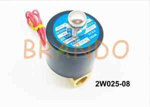 China 1/4'' Inch Golden Yellow Color 2V Water Control Valve 2W025-08 made of Superior Brass on sale