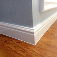 100mm New 3D Decor Material WPC White Skirting board Moulding PVC Foam Skirting Board,skirting board profiles