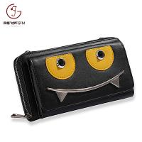 Most popular New Design Women Long Wallet, Hot Sale Fashion Lady Wallet  smiling-face single pull cell phone wallet
