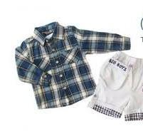 China Summer Short Pants T Shirt Suit Cotton Baby Layette Set With Short Sleeved on sale