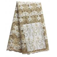 Simple and elegent white african lucky flower lace wholesale stock best beautiful lace fabric for wedding