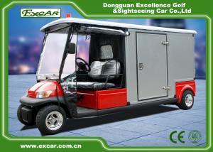 China RED 48V 2 seater Electric Ambulance Car / Club Emergency Golf Carts on sale