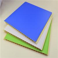 Laminated Interior PVC Exterior Wood Wall Panels / Ceiling Panels Bamboo Fiber