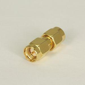 China Gold Plated Straight Male To Male SMA Adapter For Coaxial Connectors on sale