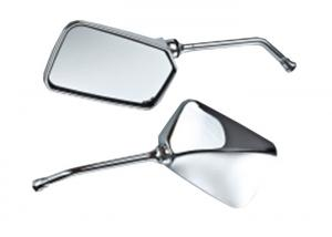 China ABS Cover Low Profile Mirrors Motorcycle , Custom Chrome Mirrors Plating Silver White / Black on sale